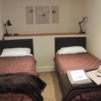 Twin room on ground floor